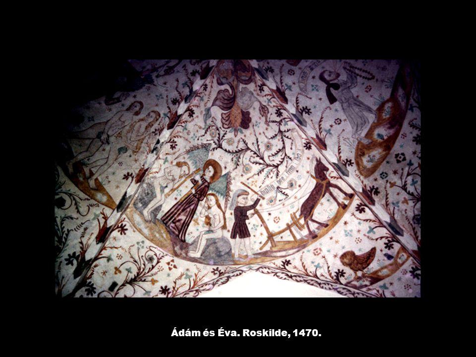 Ádám és Éva. Roskilde, 1470.
