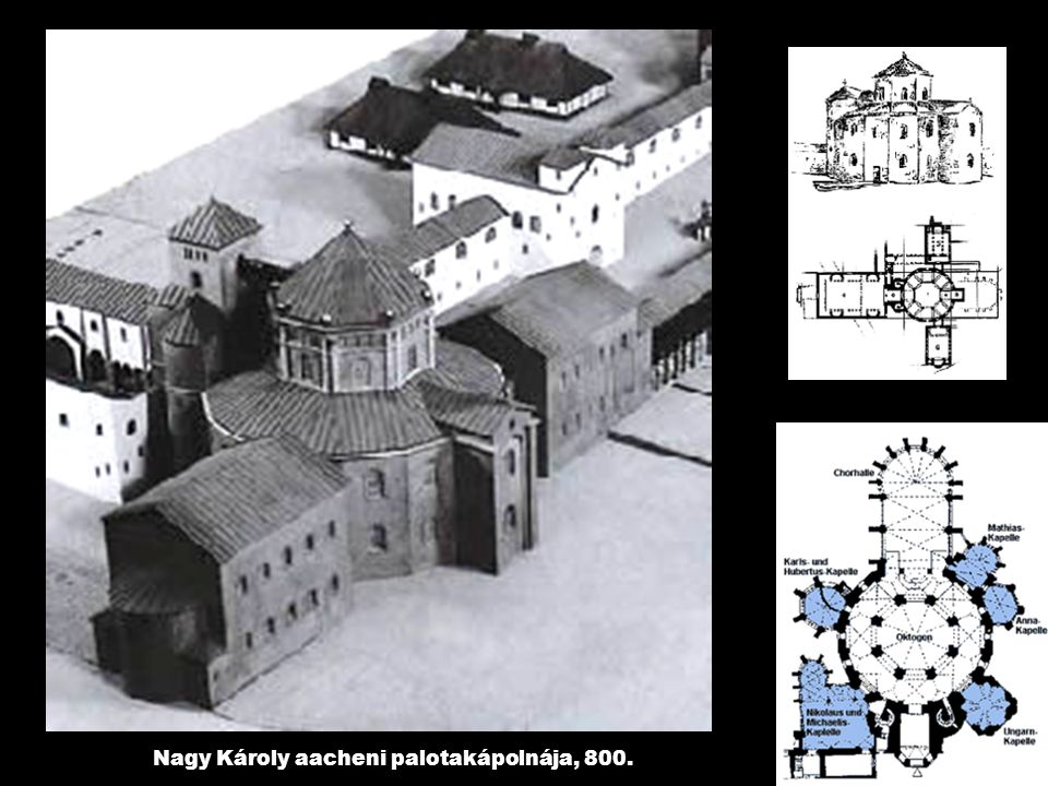 Nagy Károly aacheni palotakápolnája, 800.