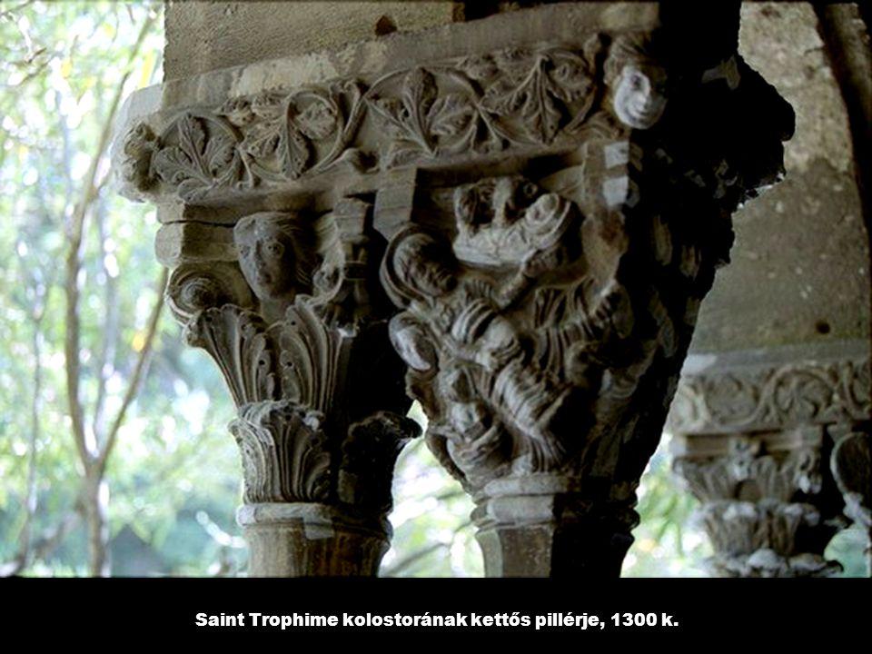 Saint Trophime kolostorának kettős pillérje, 1300 k.