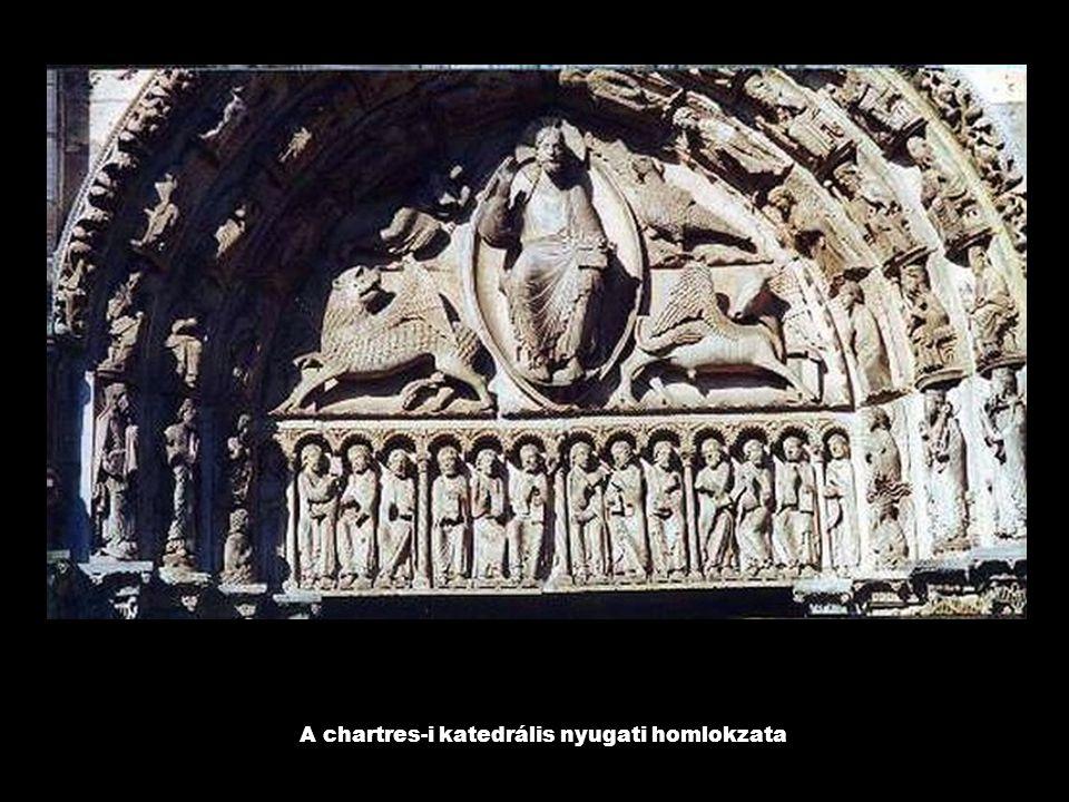 A chartres-i katedrális nyugati homlokzata