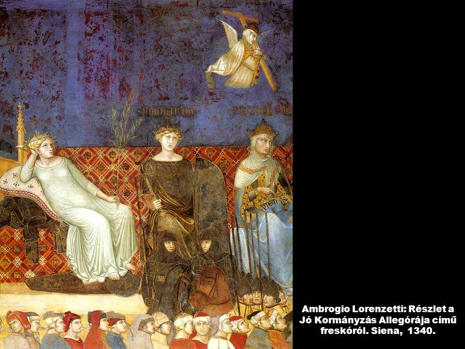Ambrogio Lorenzetti: Részlet a Jó Kormányzás Allegórája című freskóról