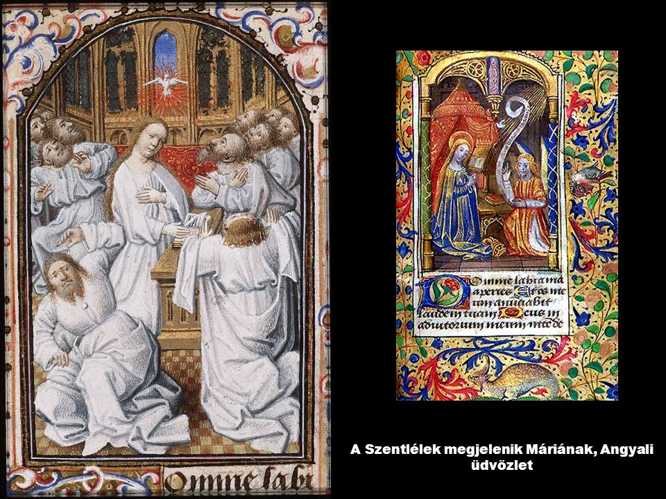 A Szentlélek megjelenik Máriának, Angyali üdvözlet