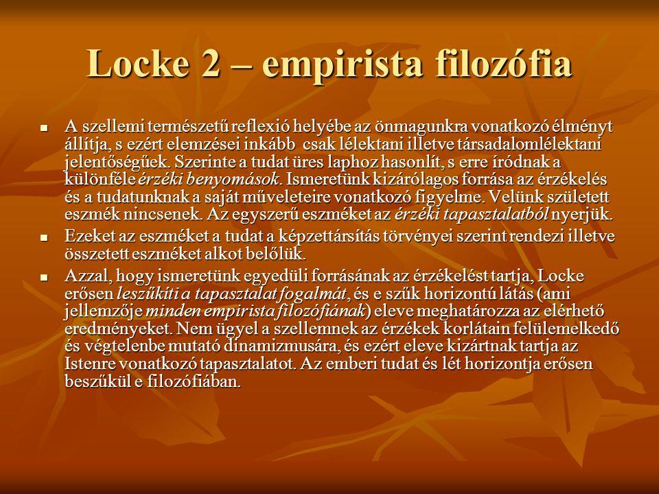 Locke 2 – empirista filozófia
