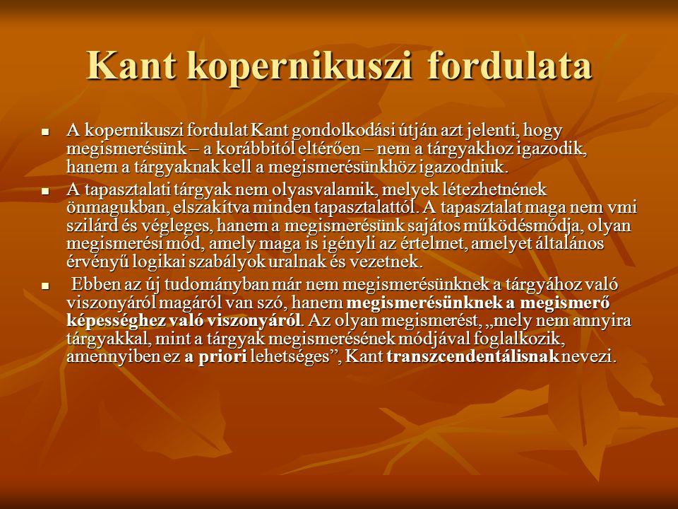 Kant kopernikuszi fordulata
