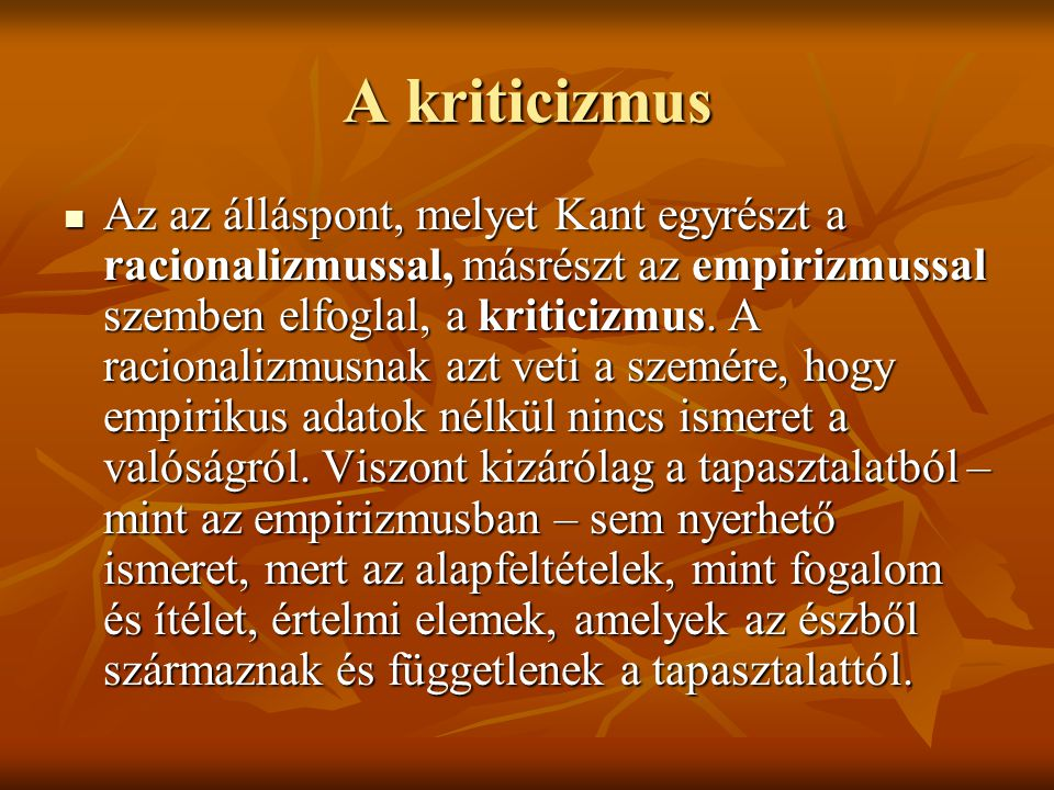 A kriticizmus