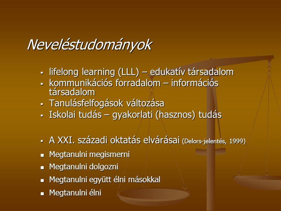 Neveléstudományok lifelong learning (LLL) – edukatív társadalom