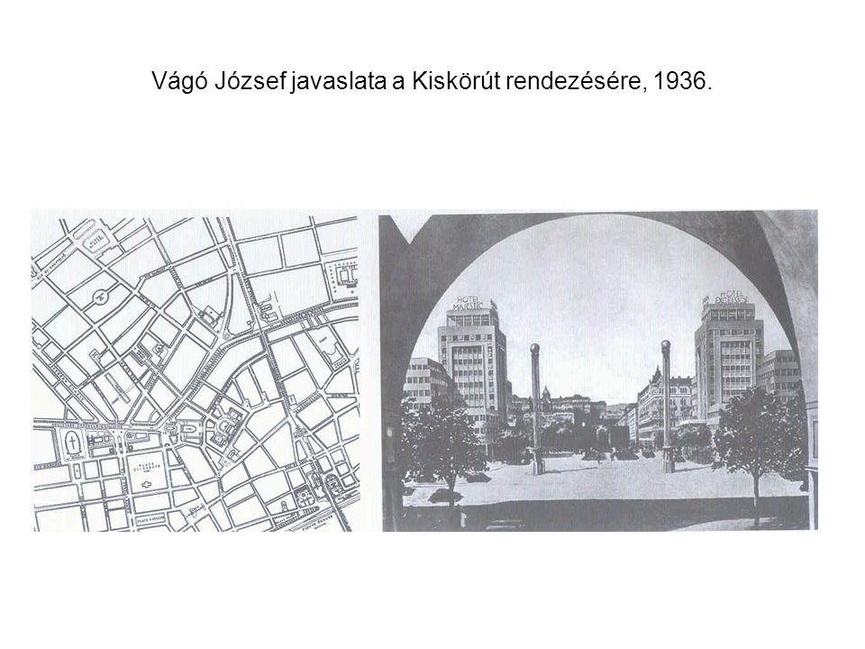 Vágó József javaslata a Kiskörút rendezésére, 1936.
