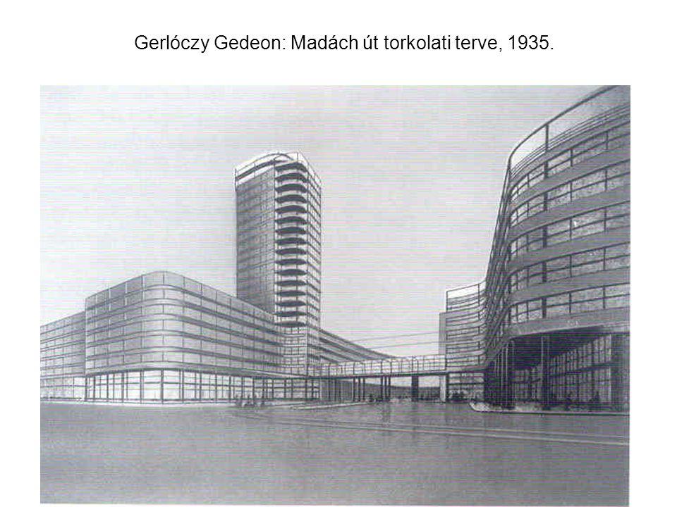 Gerlóczy Gedeon: Madách út torkolati terve, 1935.
