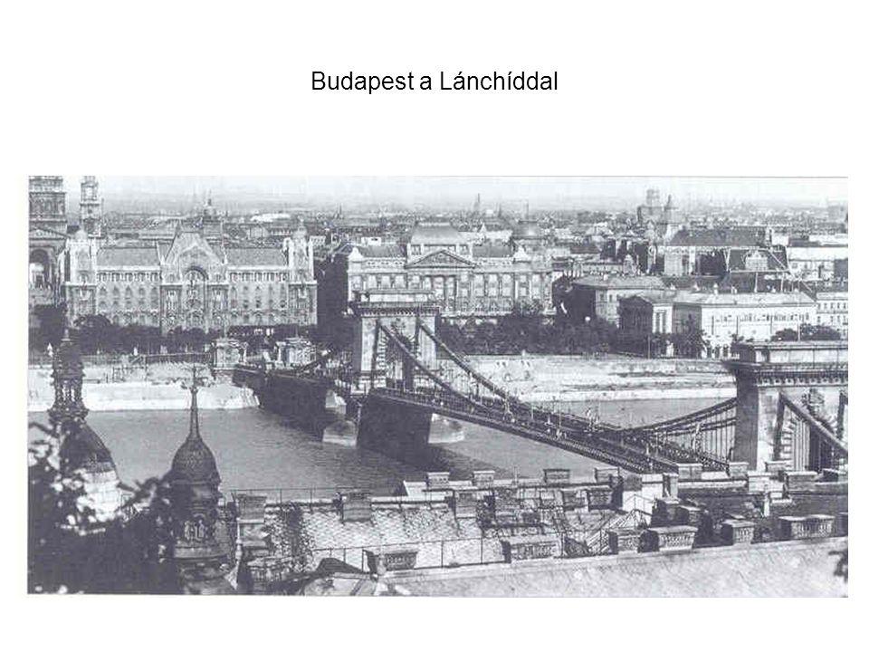 Budapest a Lánchíddal