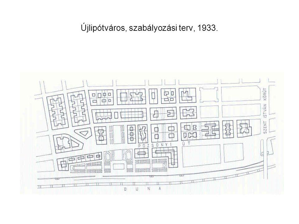 Újlipótváros, szabályozási terv, 1933.