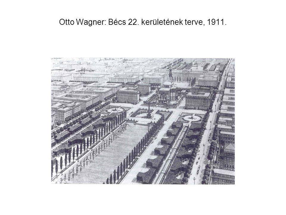 Otto Wagner: Bécs 22. kerületének terve, 1911.