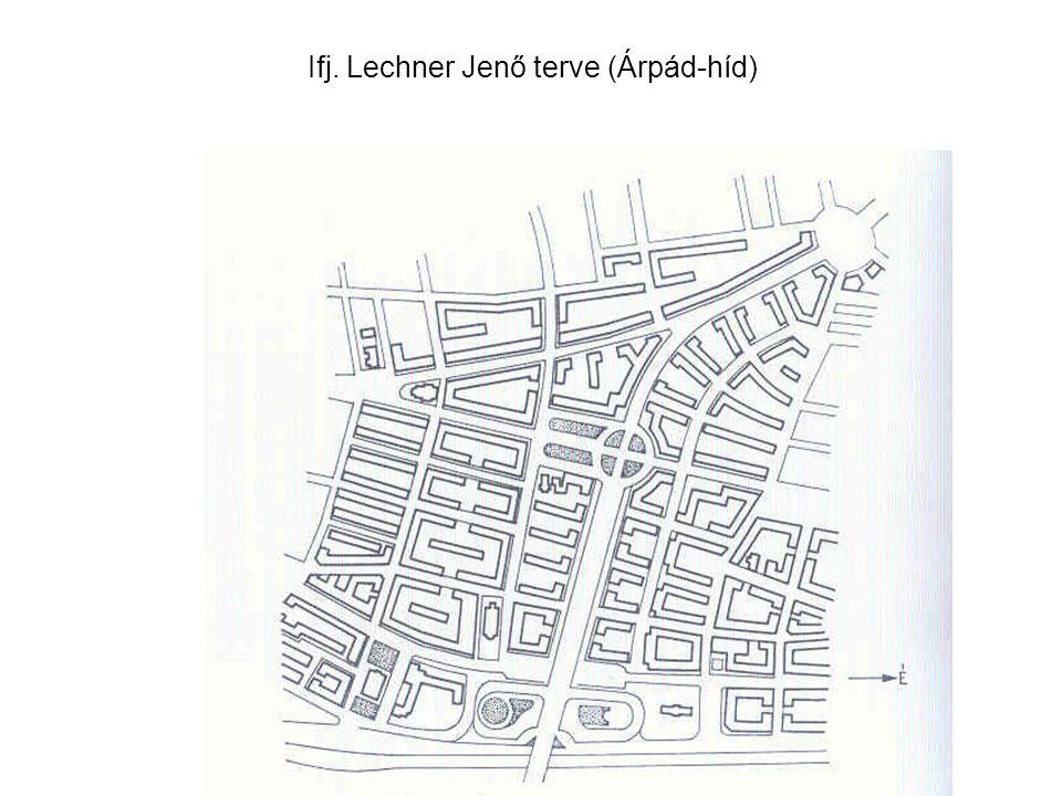 Ifj. Lechner Jenő terve (Árpád-híd)