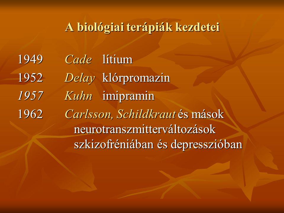 A biológiai terápiák kezdetei