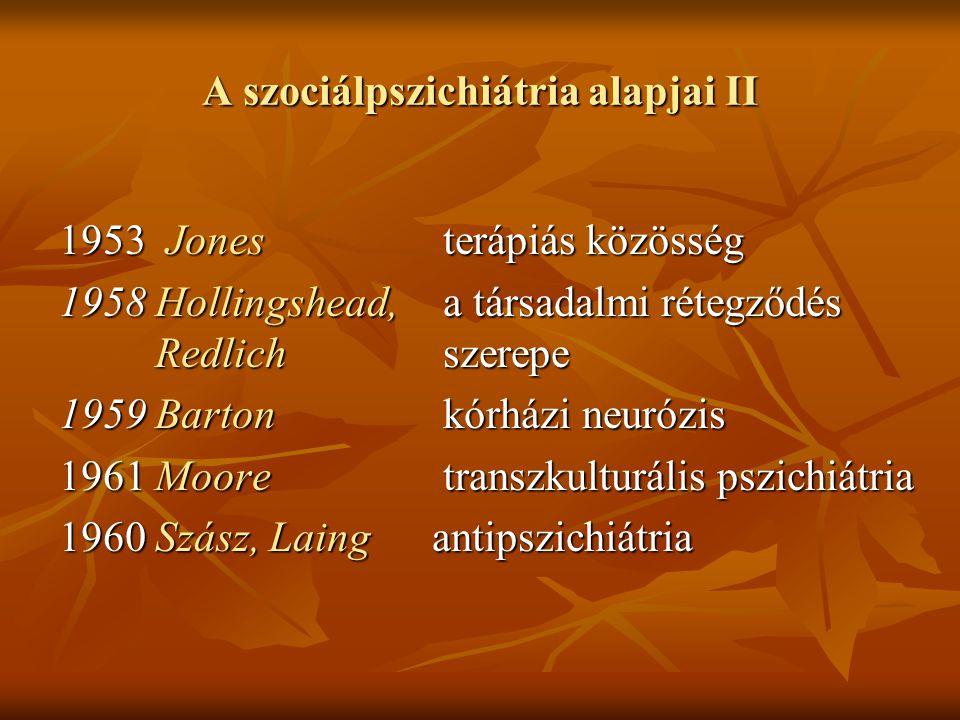 A szociálpszichiátria alapjai II