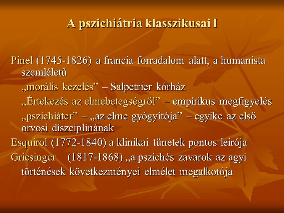 A pszichiátria klasszikusai I