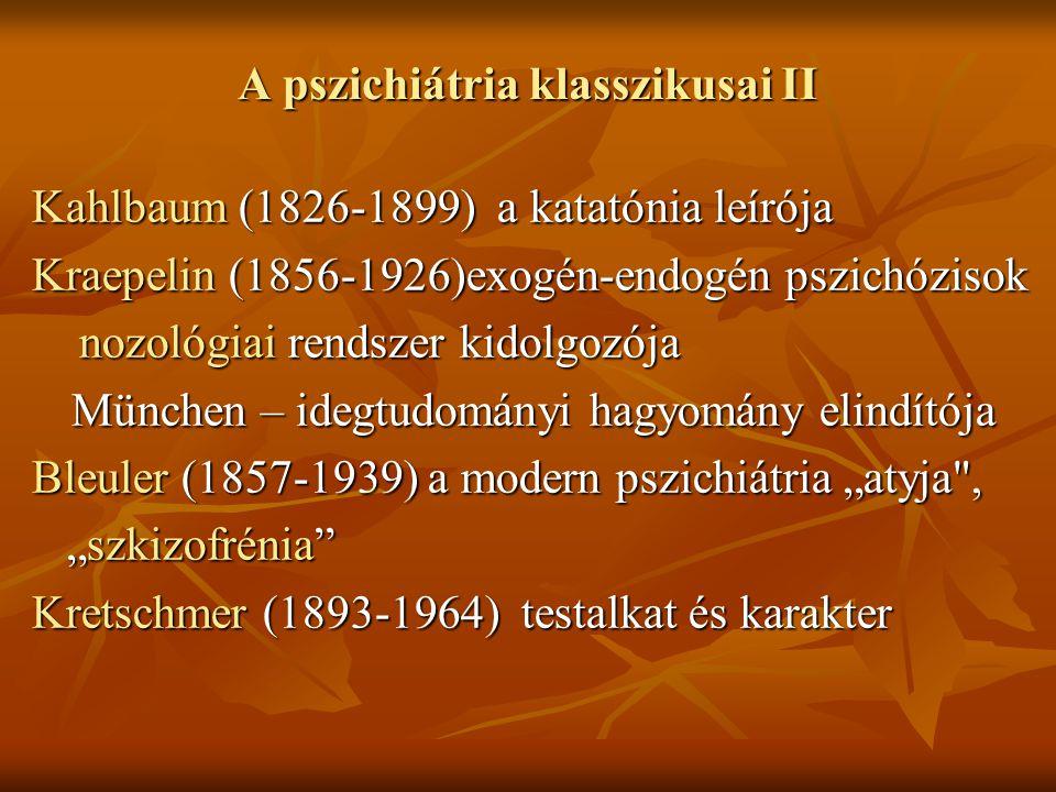 A pszichiátria klasszikusai II