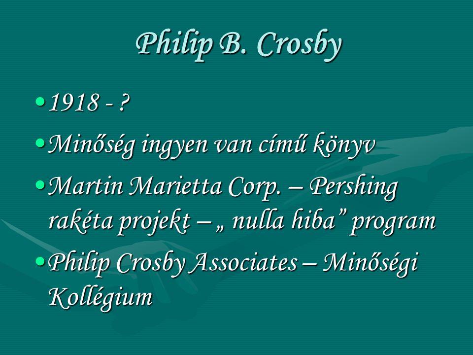 Philip B. Crosby 1918 - Minőség ingyen van című könyv