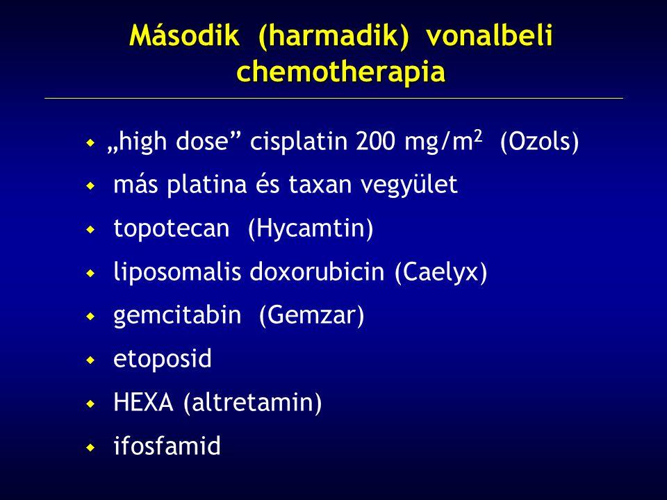 Második (harmadik) vonalbeli chemotherapia