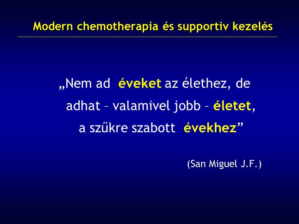 Modern chemotherapia és supportiv kezelés