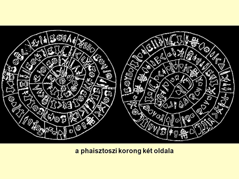 a phaisztoszi korong két oldala