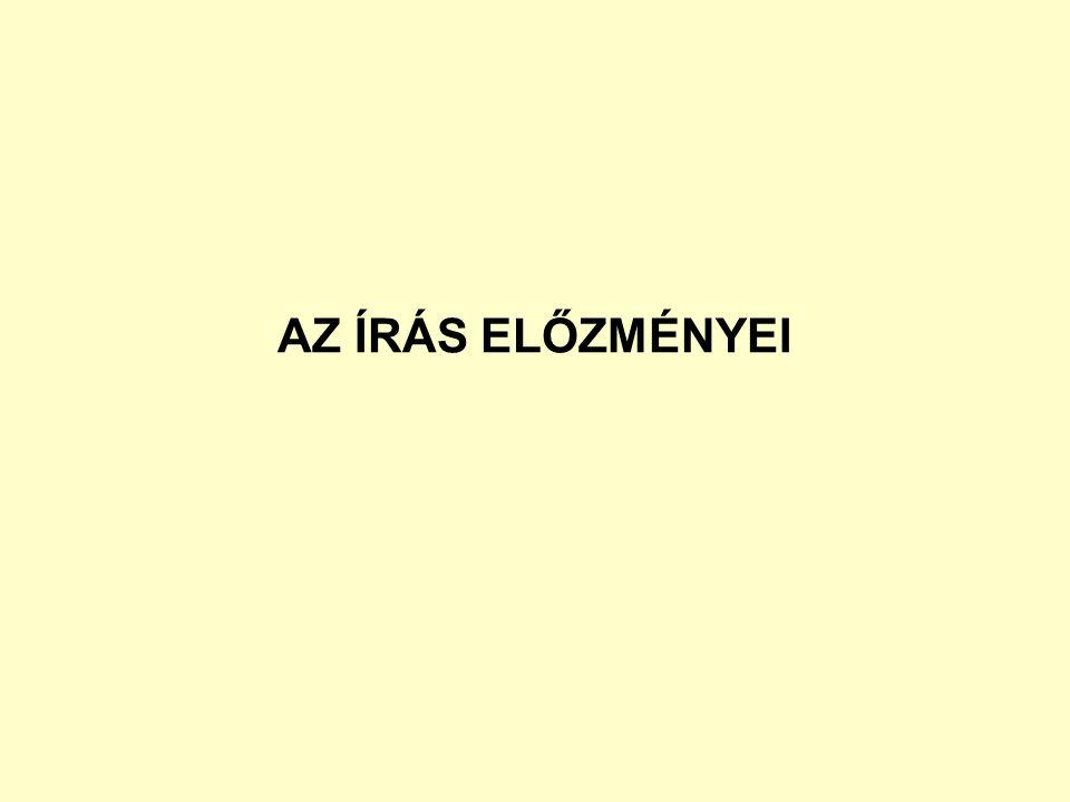 AZ ÍRÁS ELŐZMÉNYEI
