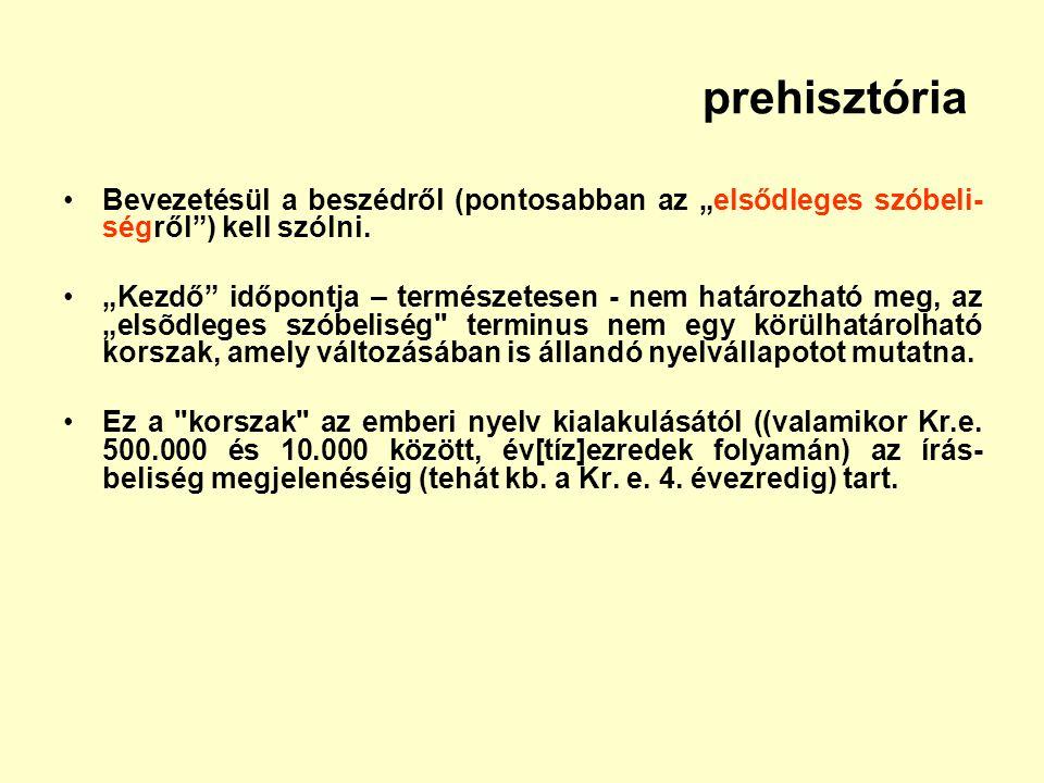 """prehisztória Bevezetésül a beszédről (pontosabban az """"elsődleges szóbeli-ségről ) kell szólni."""