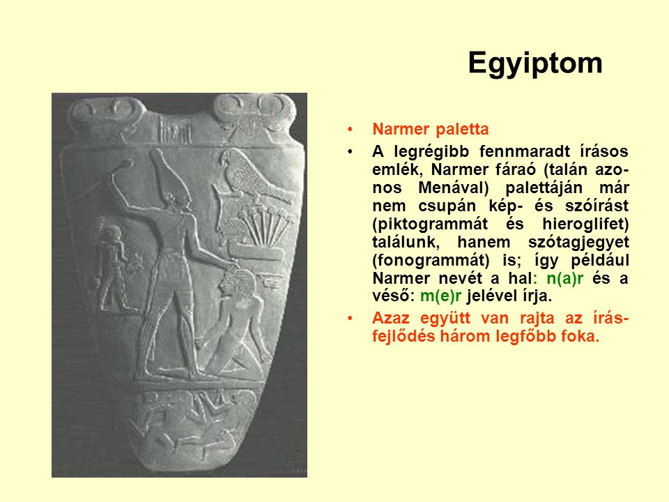 Egyiptom Narmer paletta