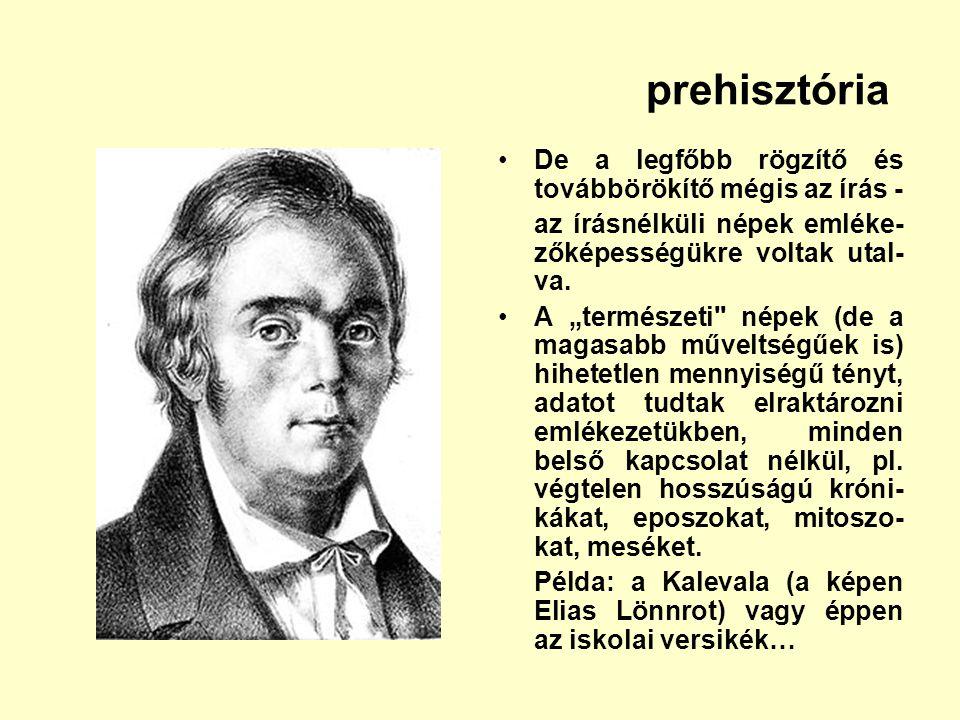 prehisztória De a legfőbb rögzítő és továbbörökítő mégis az írás -