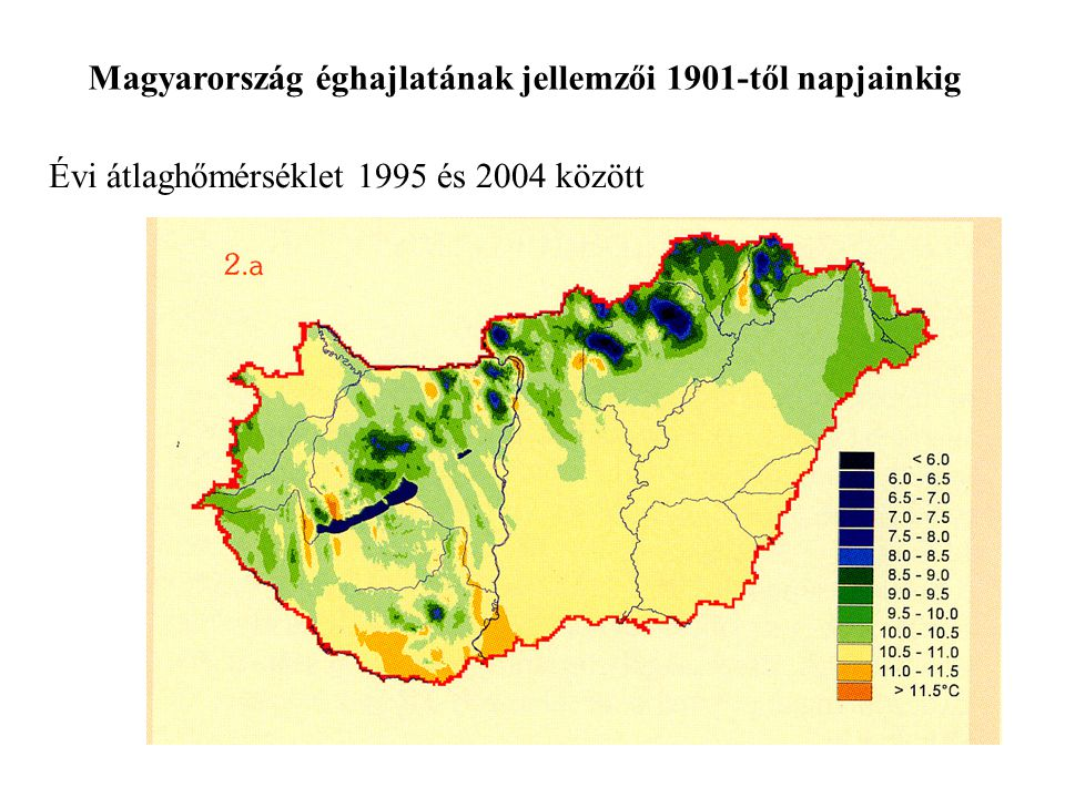 Magyarország éghajlatának jellemzői 1901-től napjainkig