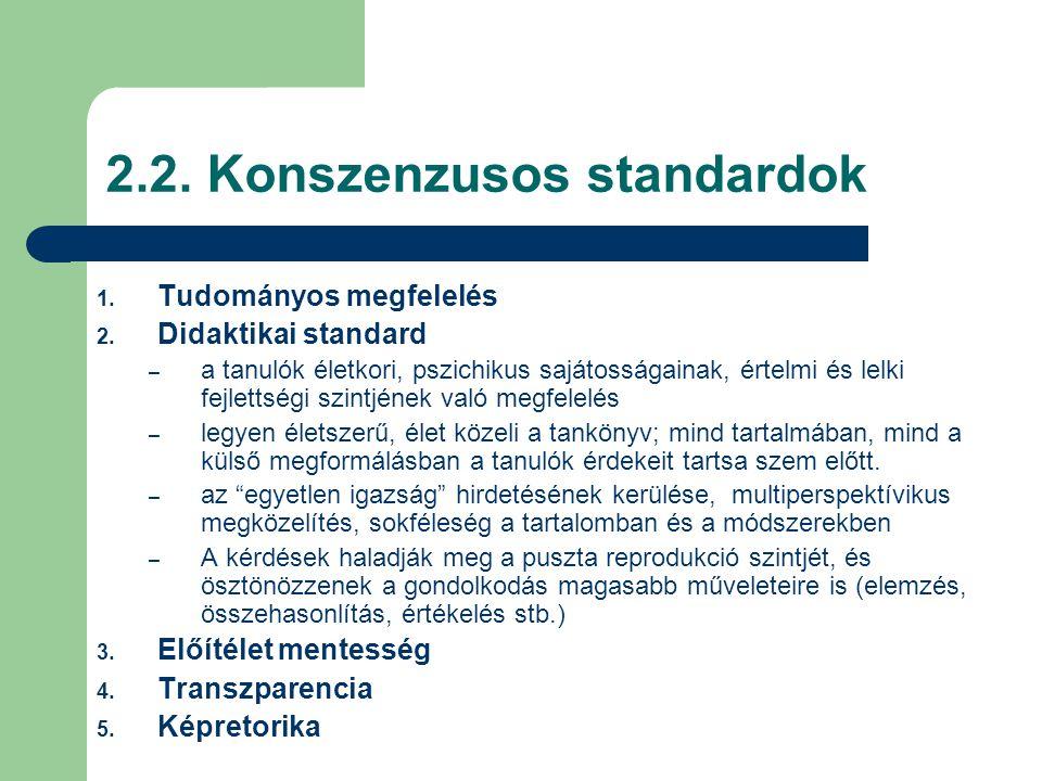 2.2. Konszenzusos standardok