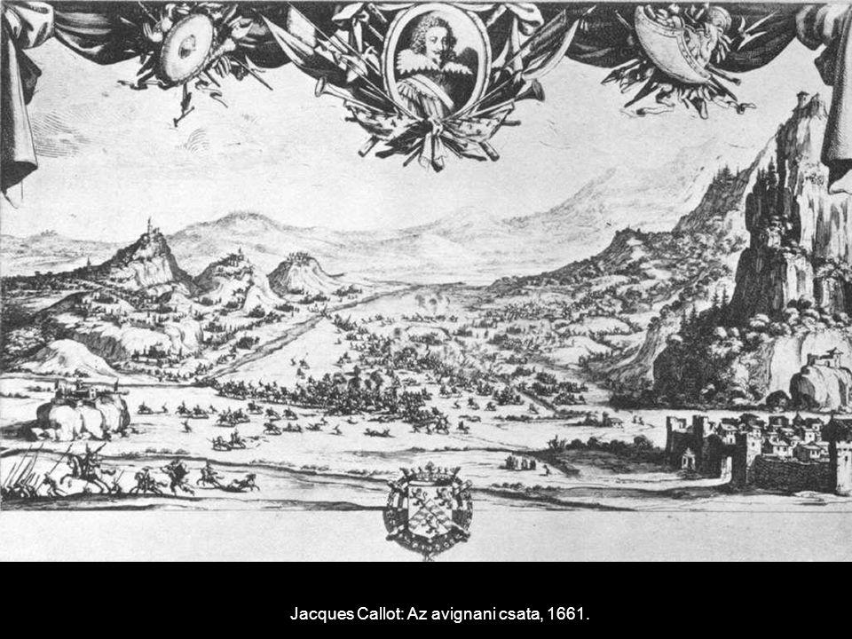Jacques Callot: Az avignani csata, 1661.