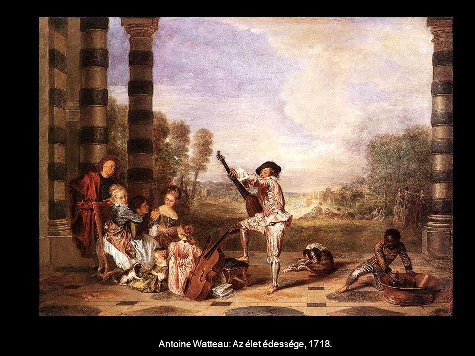 Antoine Watteau: Az élet édessége, 1718.