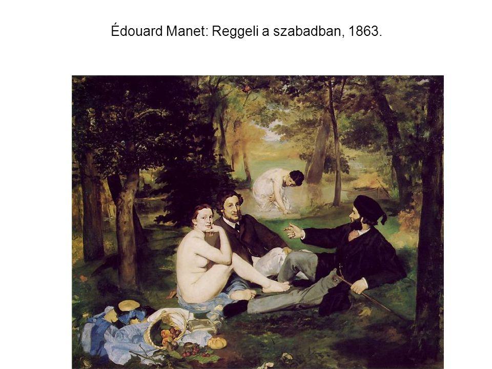 Édouard Manet: Reggeli a szabadban, 1863.