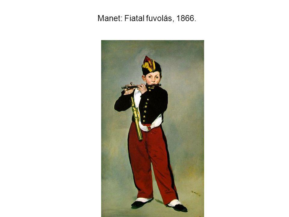 Manet: Fiatal fuvolás, 1866.