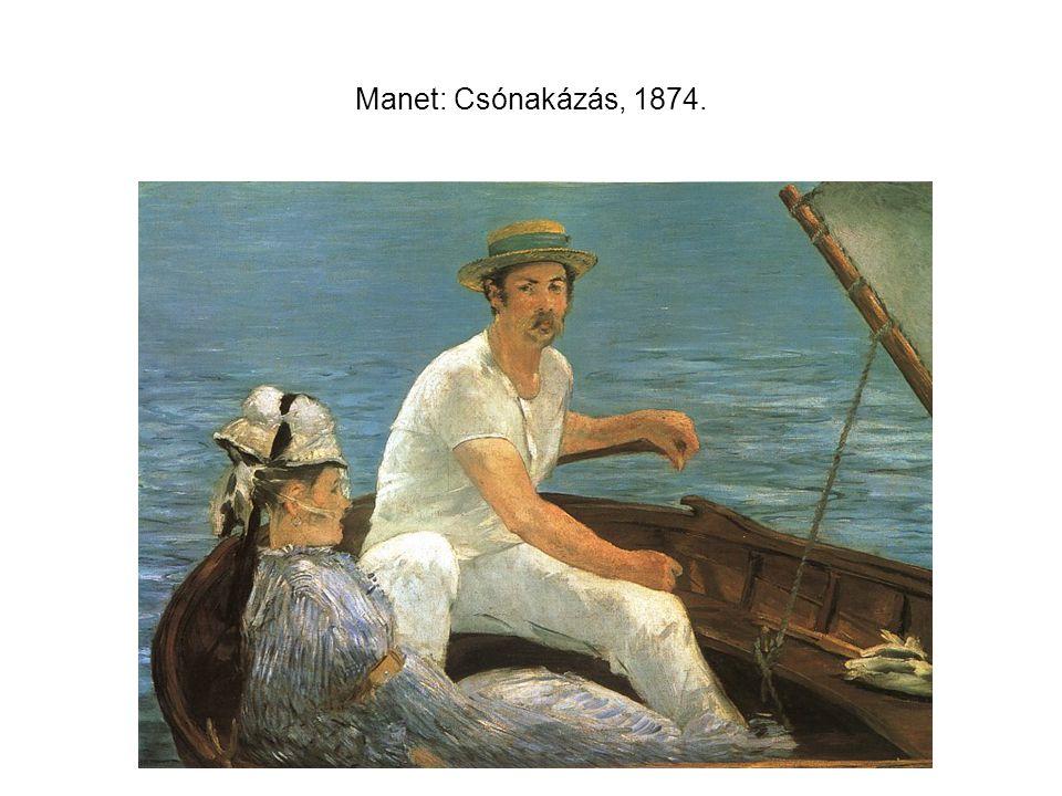 Manet: Csónakázás, 1874.