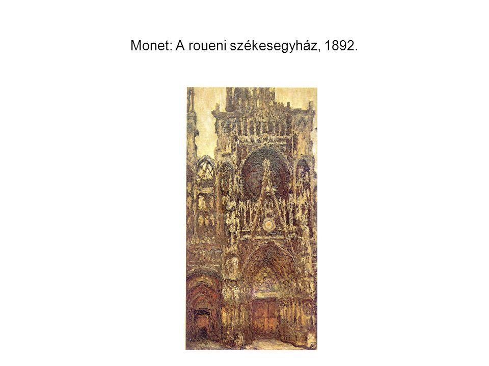 Monet: A roueni székesegyház, 1892.