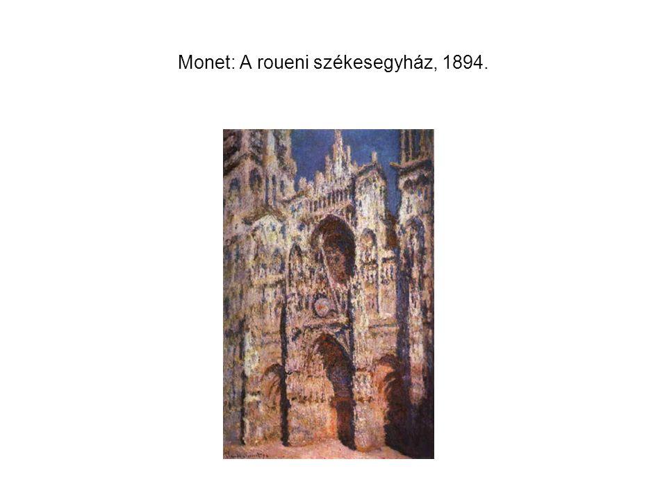 Monet: A roueni székesegyház, 1894.