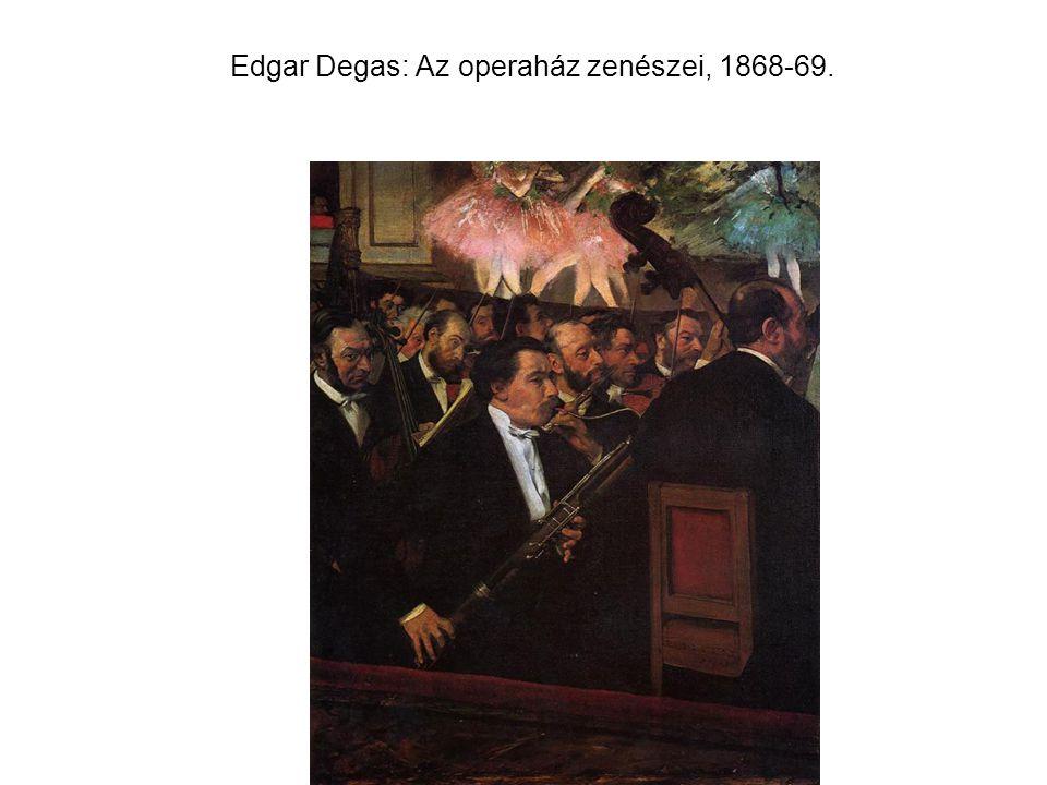 Edgar Degas: Az operaház zenészei, 1868-69.