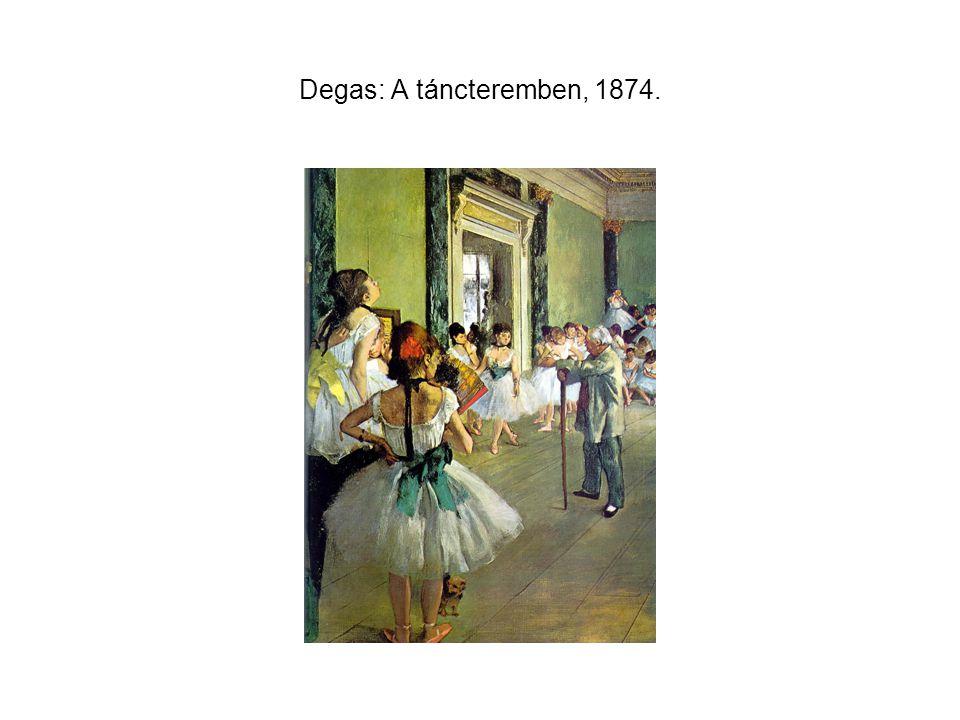 Degas: A táncteremben, 1874.