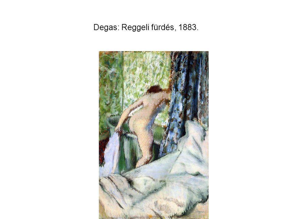 Degas: Reggeli fürdés, 1883.
