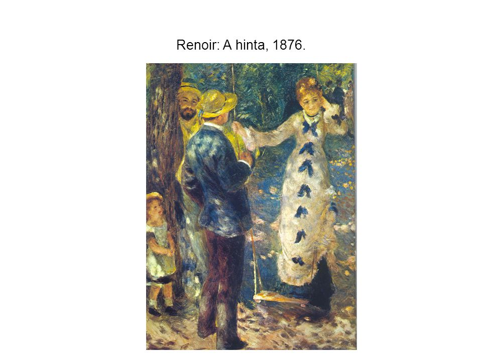 Renoir: A hinta, 1876.