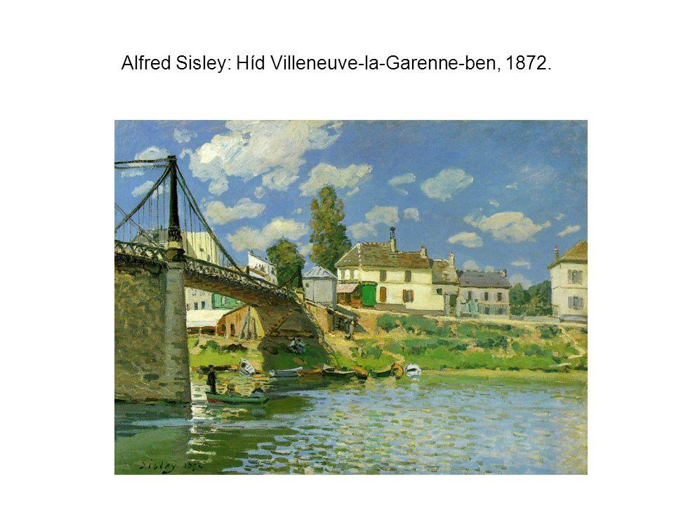 Alfred Sisley: Híd Villeneuve-la-Garenne-ben, 1872.
