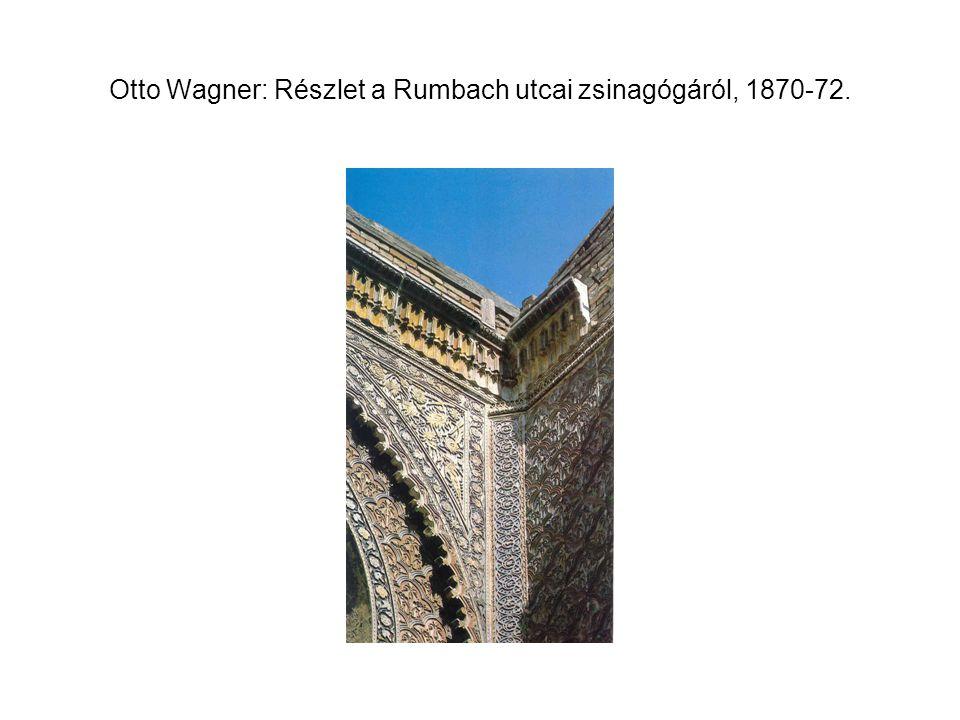 Otto Wagner: Részlet a Rumbach utcai zsinagógáról, 1870-72.