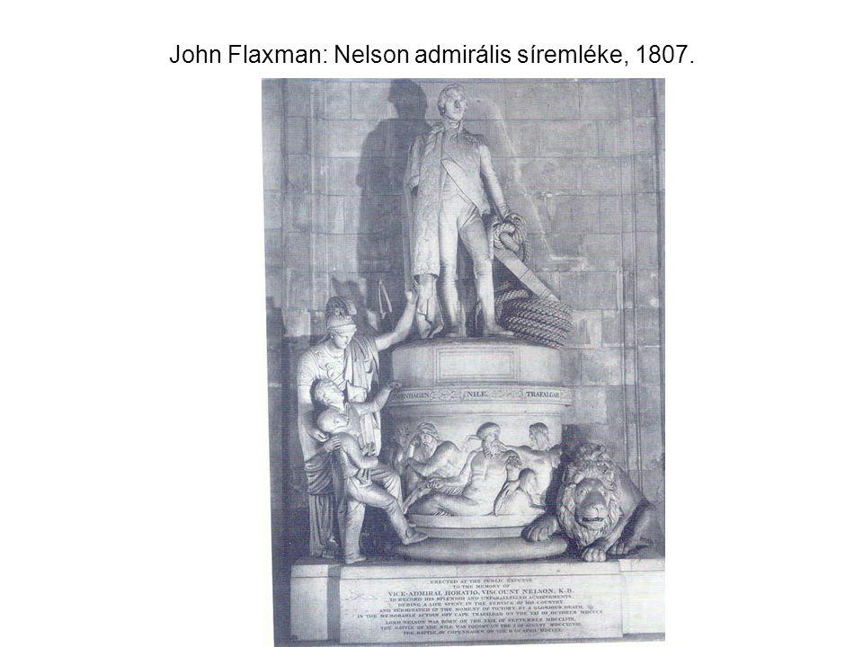 John Flaxman: Nelson admirális síremléke, 1807.