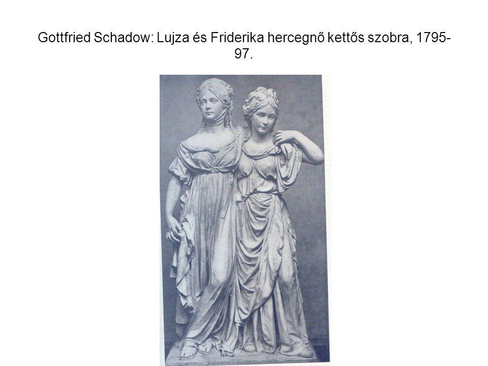 Gottfried Schadow: Lujza és Friderika hercegnő kettős szobra, 1795-97.