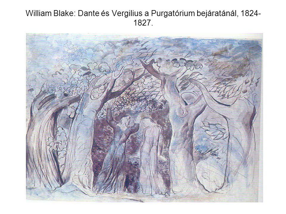 William Blake: Dante és Vergilius a Purgatórium bejáratánál, 1824-1827.