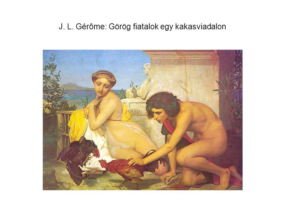J. L. Gérôme: Görög fiatalok egy kakasviadalon