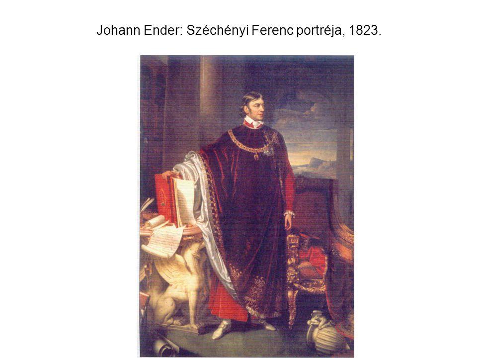 Johann Ender: Széchényi Ferenc portréja, 1823.