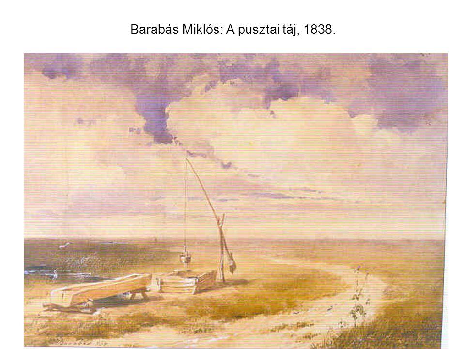 Barabás Miklós: A pusztai táj, 1838.