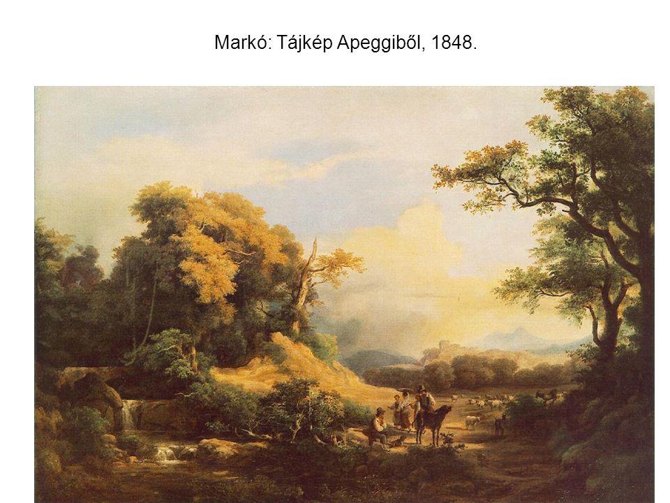 Markó: Tájkép Apeggiből, 1848.